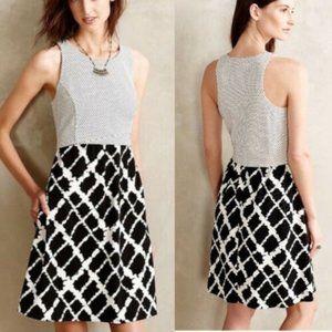 Anthropologie Tabitha Aleids Black & White Dress